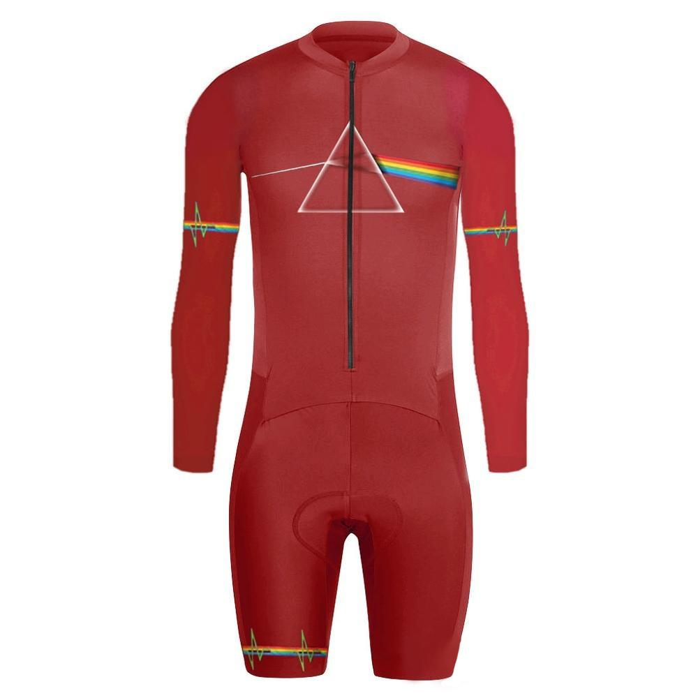 Hombres Pro Cycling Jersey Set Pro Triatlón Manga Larga TriSuit  Transpirable Traje De Carrera De Bicicleta Desgaste Racing Traje Ropa De  Ciclismo Por Towork ... 74296cf87c8e1