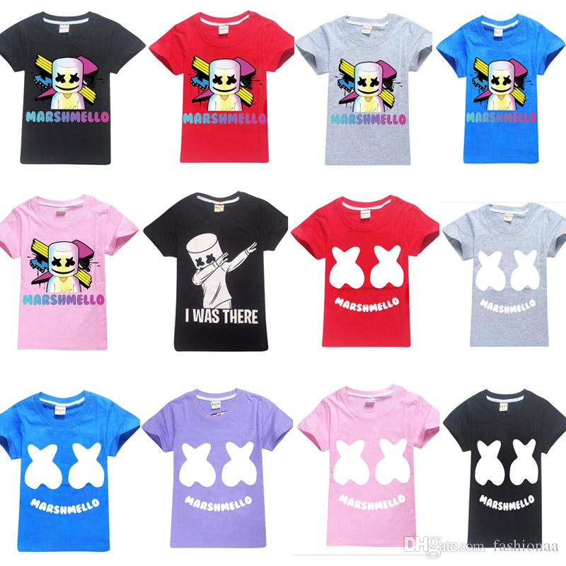 6d3819e457 Baby boys girls Marshmello T Shirt DJ Music cotton T-shirt for summer  children wear kids cute casual Shirts clothes