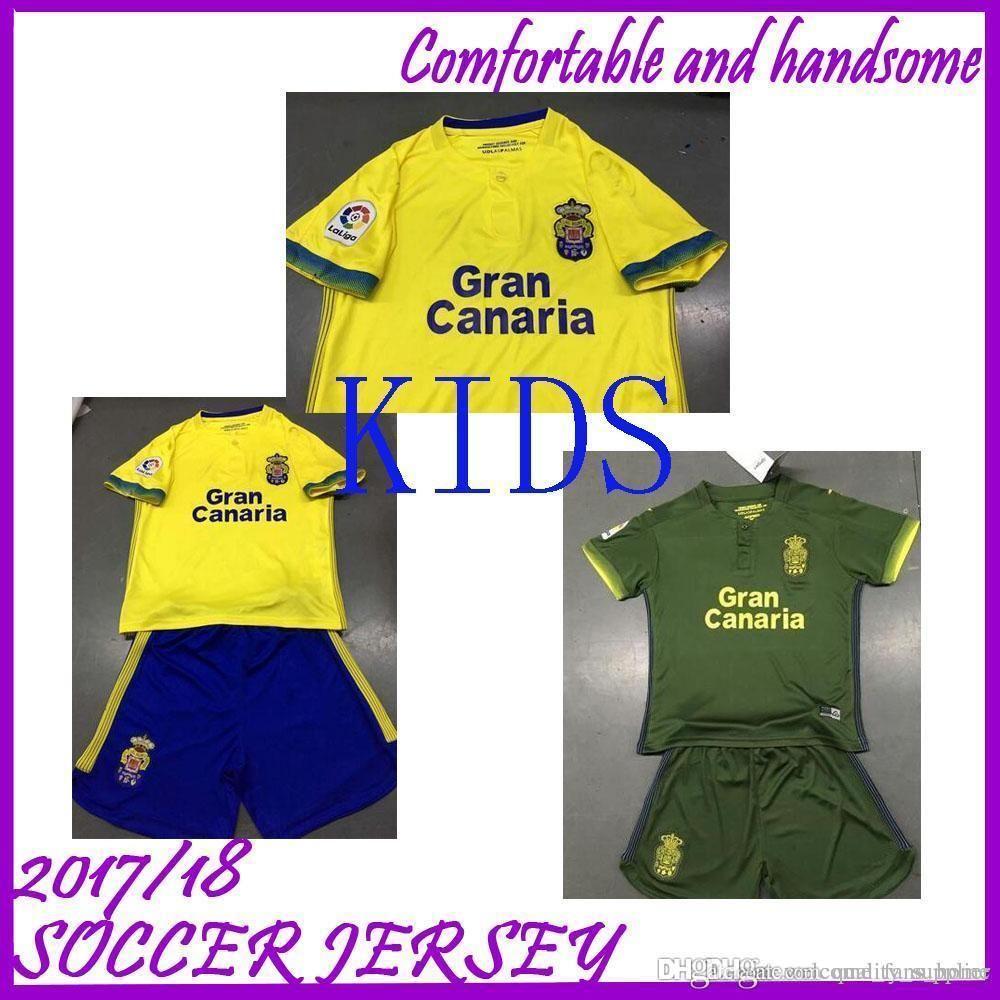 d23f710c6 Adult Kids Kit 2018 Las Palmas Soccer Jeseys Home Away 1819 PRINCE 7 ...