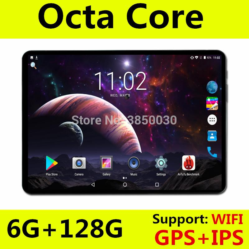 Tablet S106 10 inch WiFi Octa Core 6GB RAM 64GB ROM 1280X800 IPS Screen Dual SIM Cards Android 8.0 Google 3G 4G FDD LTE Tablets