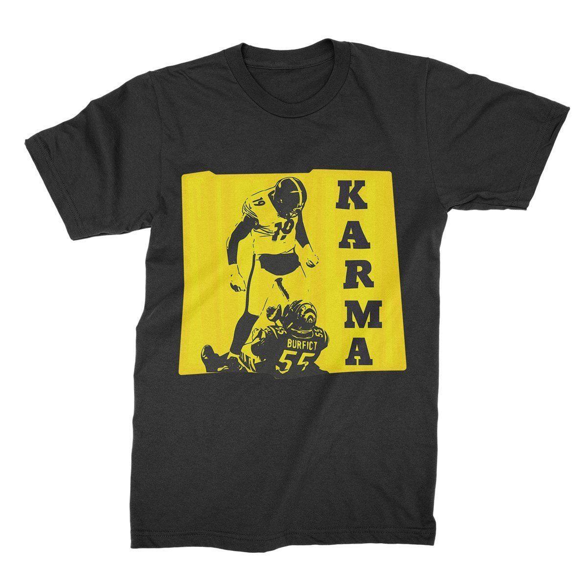super popular 013f4 ea726 Steelers Karma Shirt Juju Smith Schuster T-Shirt Juju Karma Tee Antonio  Brown Ka fan pants t shirt
