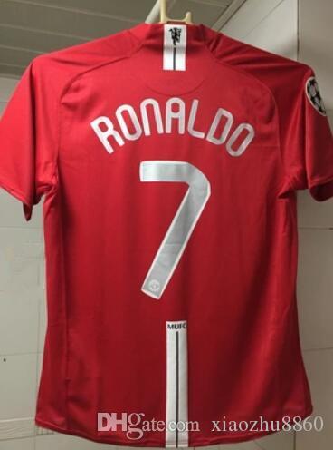 8efbc65f517 2019 2007 2008 MU FINAL MOSCOW Retro Soccer Jersey Utd Football Jerseys Top  Quality Soccer Clothing Custom Name Number Ronaldo 7 Ucl From Xiaozhu8860
