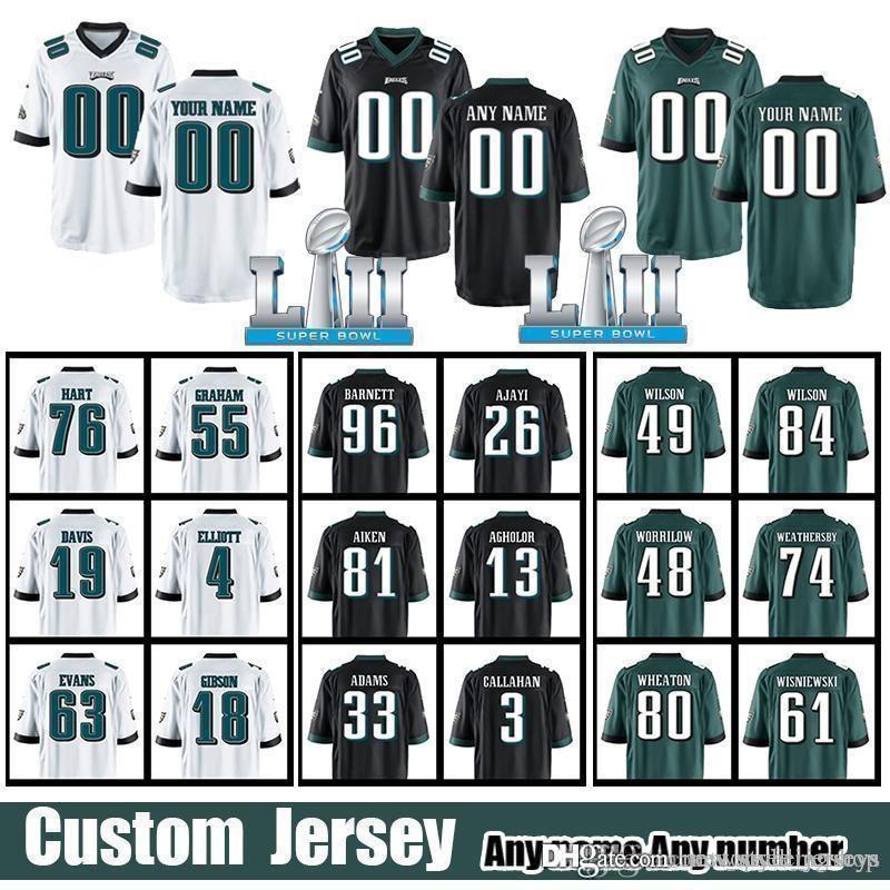 newest e0ec5 05d0b Philadelphia Eagle jersey 11 Carson Wentz 63 Aaron Evans jerseys 81 Kamar  Aiken 19 Rashard Davis 33 Josh Adams 77 Michael Bennett