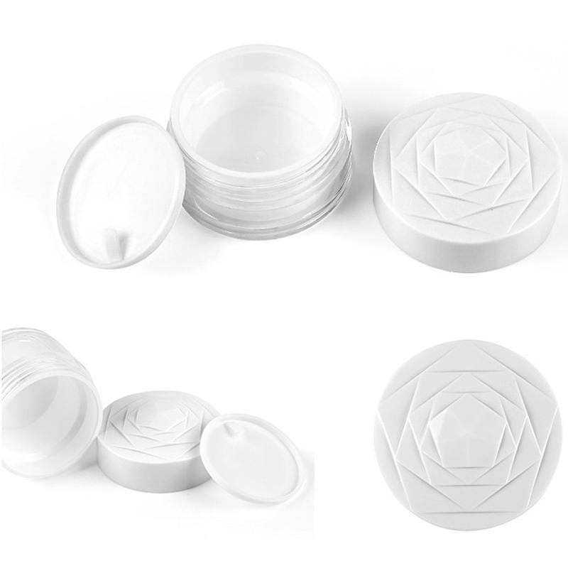White 15g 30g 50g Cosmetic Empty Eye Cream Jar Pots Base Makeup Face Skin Care Lotion Containers Travel Box 100pcs/lot