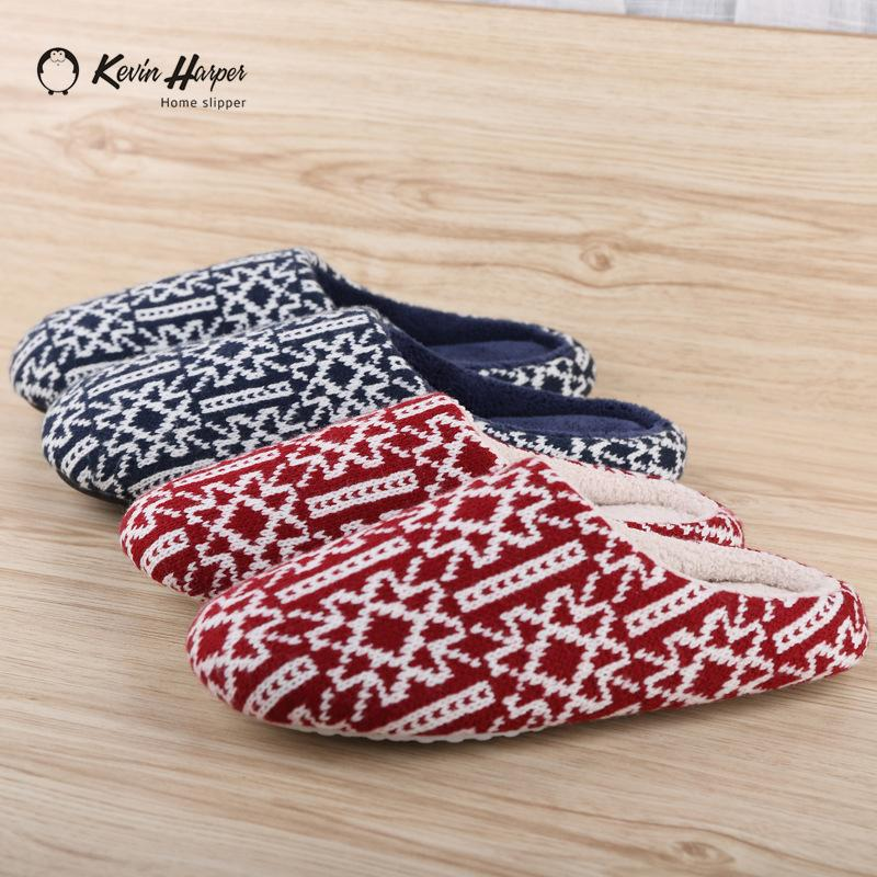 6baa8921cc60d ULTRAIDEAS Women's Cozy velvet Coral Yarn Knitted Slippers Memory Foam  Fuzzy Plush Lining Slip on House Shoes with Indoor Outdoor Anti-Skid