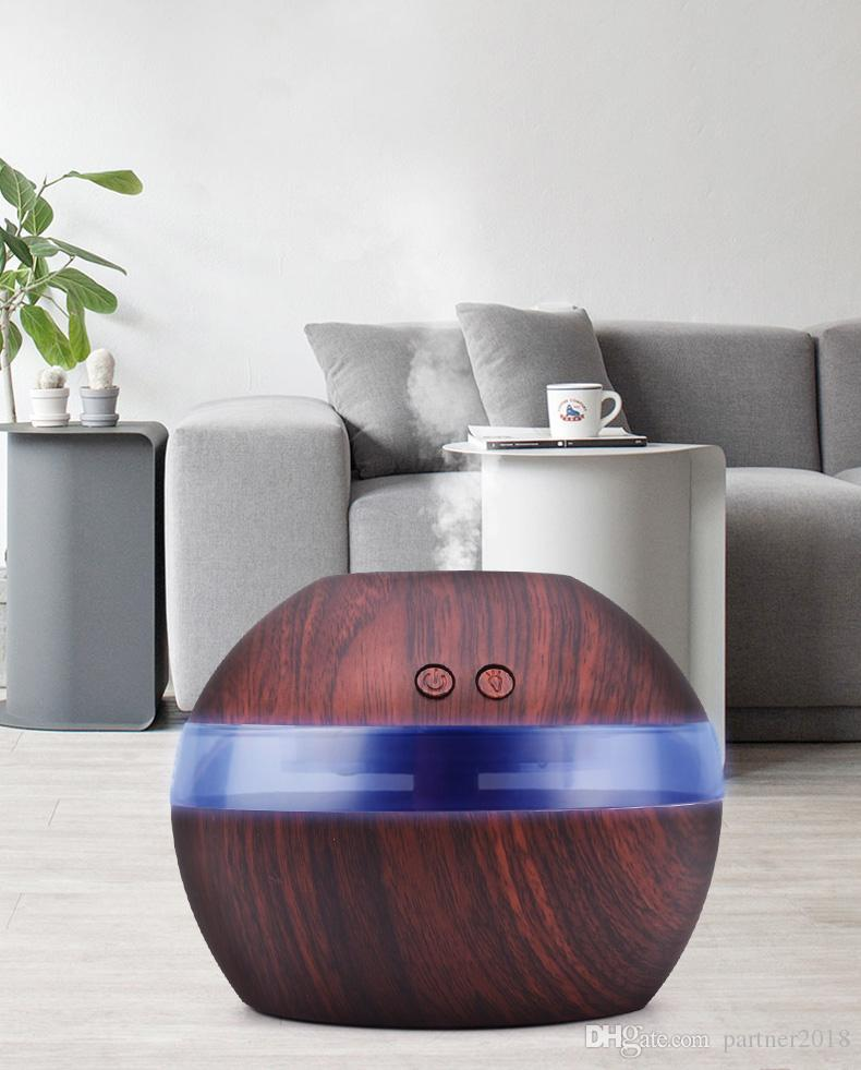 Small Air Conditioning Appliances 350ml Air Ultrasonic Humidifier Usb Sofa Aromatherapy Essential Oil Diffuser With Colorful Led Light For Office Home