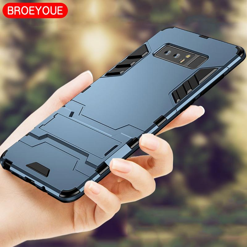 promo code f84d5 4ba04 BROEYOUE Case For Samsung Galaxy Note 4 5 8 Cases Hybrid Rugged Armor Case  For Samsung Galaxy Note 8 Shockproof Phone Back Cover