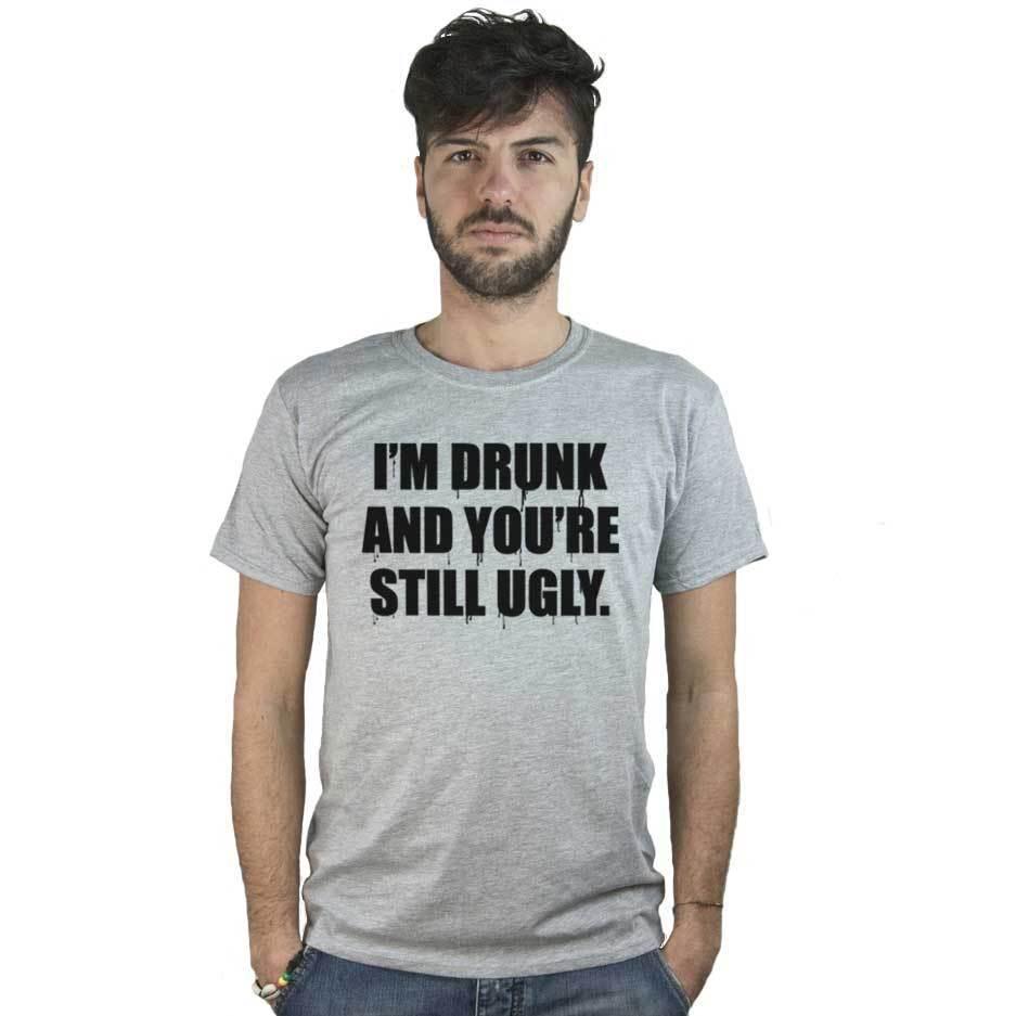 Divertente Shirt Scritta Am DrunkMaglietta I Acquista T Con 4LjARqc35