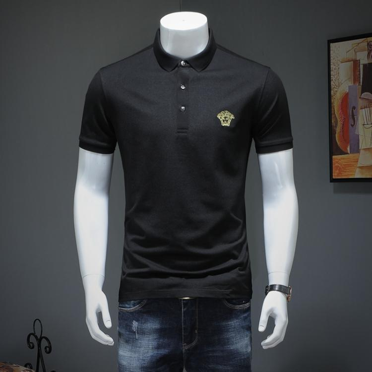 edc99c4552c 2019 2019 New Pattern Summer Man Easy Edition Lapel Mercerization Cotton  Short Sleeve T T Shirt Embroidery309  From Exquisite women