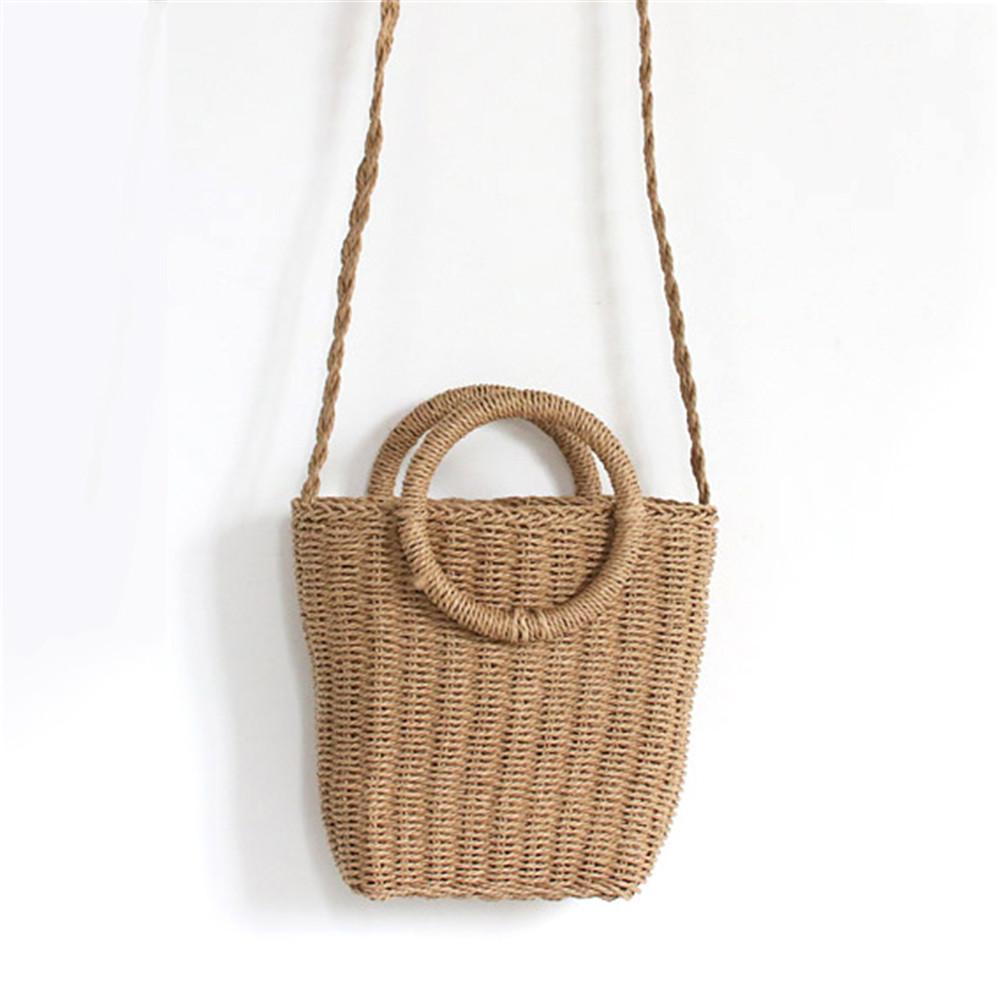 5bb2e2b571 Bohemian Style Fashionable Handmade Handbag Simple Natural Straw Bag  Crossbody Woven Beach Bag For Women Brand New Cheap Bags Cute Purses From  Jumpmen04