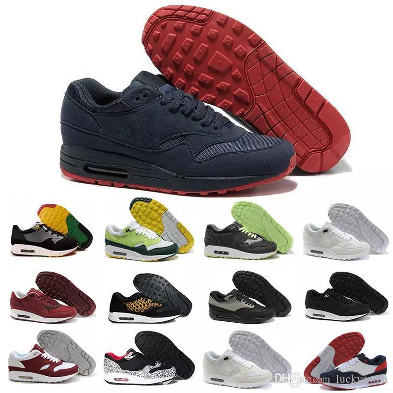 eeac045f Compre Nike Air Max Airmax 87 Nuevo Envío Gratuito Famous 87 90 Ultra 1  Elephant Black Clear Jade White Para Mujer Para Hombre Zapatillas De  Deporte ...