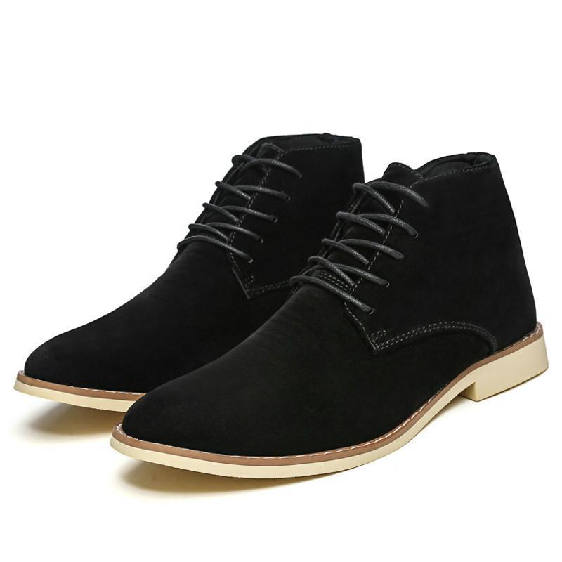 2c56fe137da Compre Botas De Hombre Botines De Moda De Chelsea Zapatos Cómodos Negros  Clásicos De Hombre Calzado De Trabajo Botas Hombre HH 964 A $37.71 Del  Lemmom ...