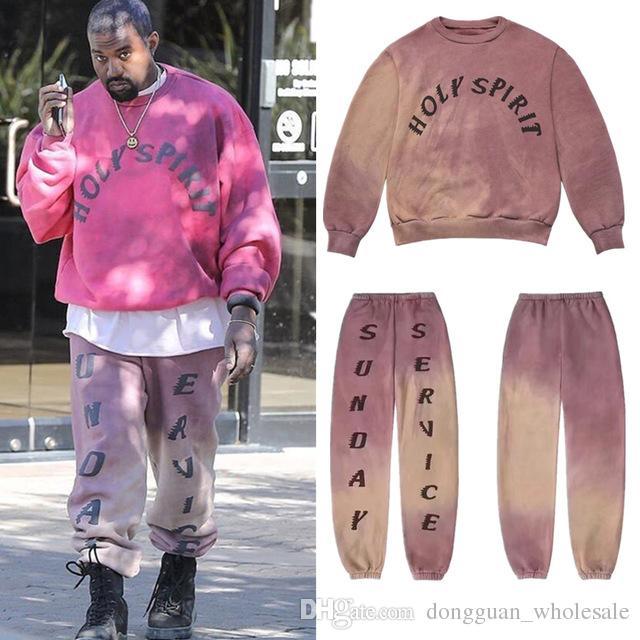 fe228384 2019 2019 Kanye West Sunday Service Holy Spirit CP FM. XYZ Hoodie Women Men Hoodies  Sweatshirt Men Tie Dyeing Cotton Hoodie Pullover From Dongguan_wholesale ...