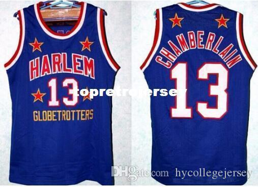 980d92e87 Retro Vest T-shirt  13 WILT CHAMBERLAIN HARLEM GLOBETROTTERS JERSEY ...