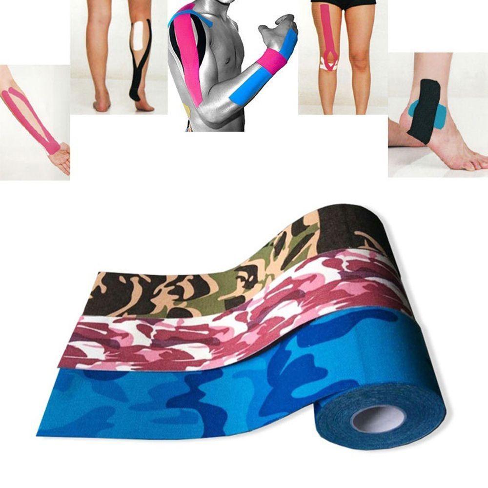 75df98571c 1 Roll 5M Camouflage Sports Muscle Bandage Cotton + Glue Bandage ...