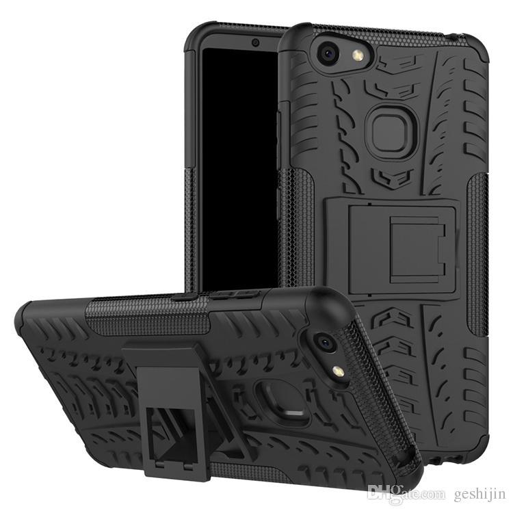 wholesale dealer 75c8f dddab Flip cover For Vivo V7 Plus Kickstand Shockproof Dual Layer Defender  Protective Case for Vivo V7 Plus