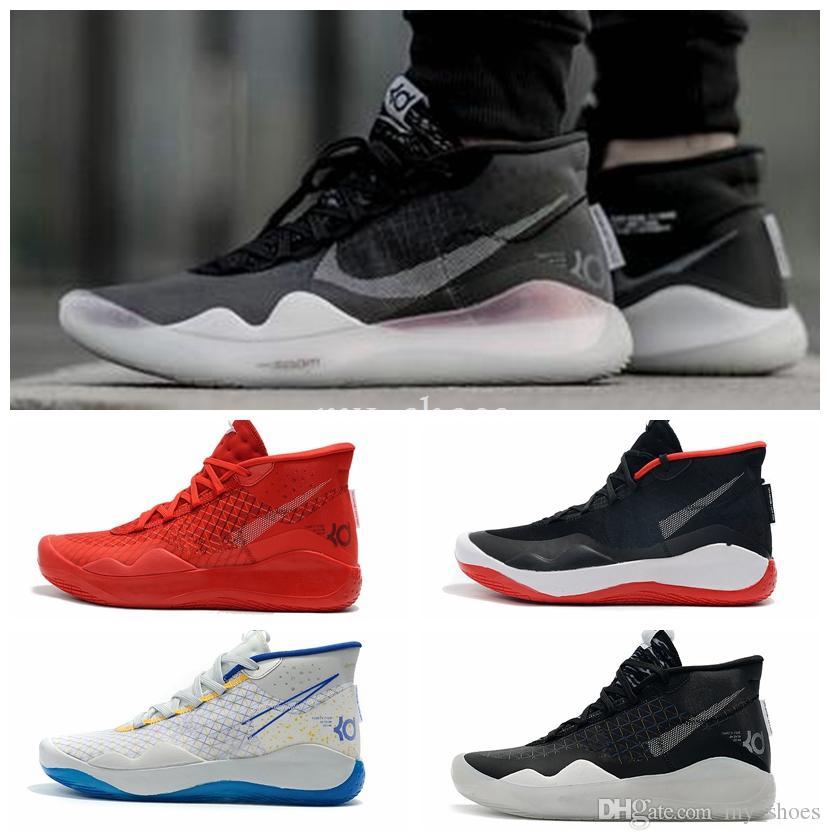 Deportiva Zapatillas Nike KD 12 Womens Mujer Negro Rojo