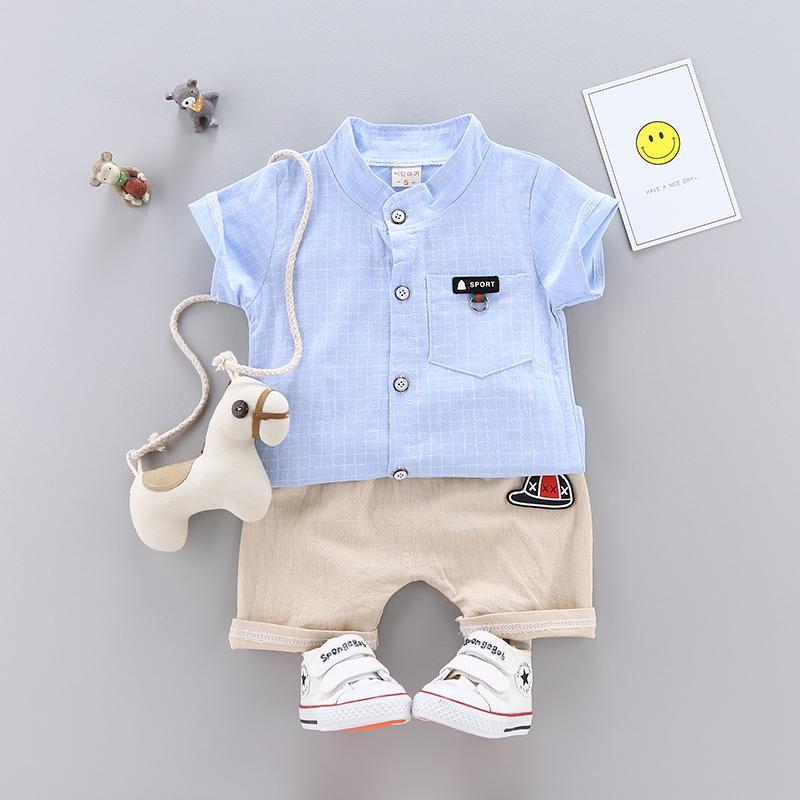 931f5af862 Compre Conjuntos Para Bebés Juegos De Ropa De Verano Para Bebés Recién  Nacidos Conjunto De Ropa De Algodón Para Bebés Traje Tops + Pantalones  Cortos ...