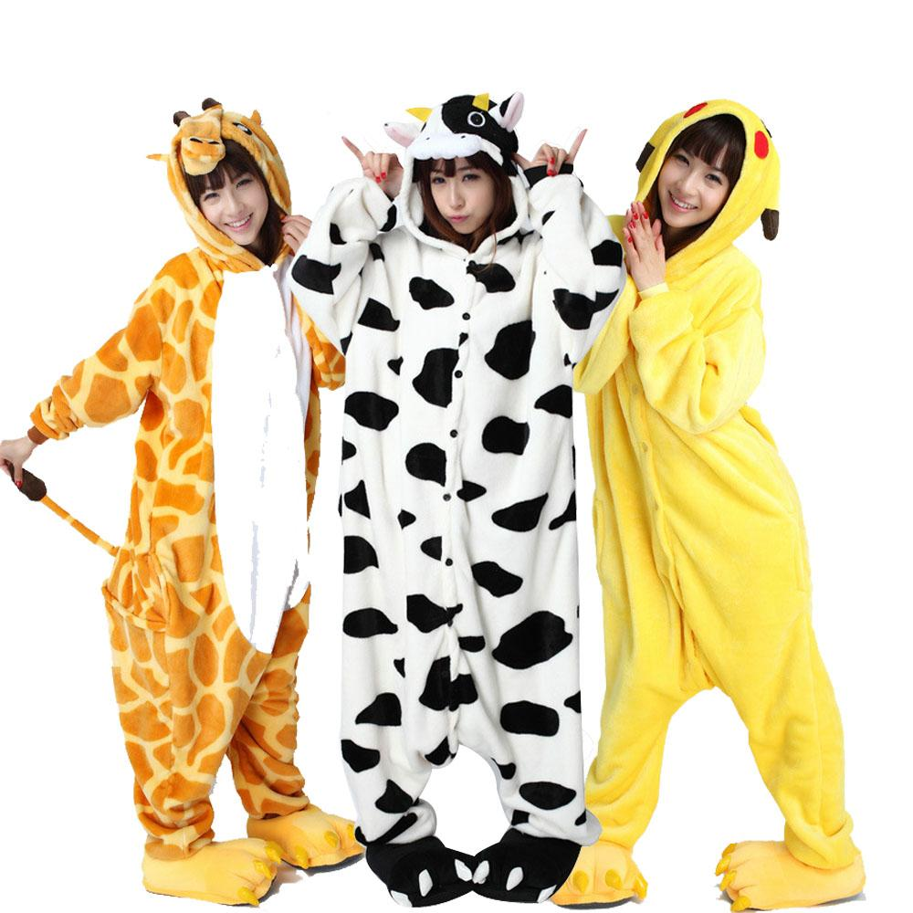ba25e091a 2019 Fit Size XXL Animal Kigurumi Adult Cartoon Pajamas Flannel ...