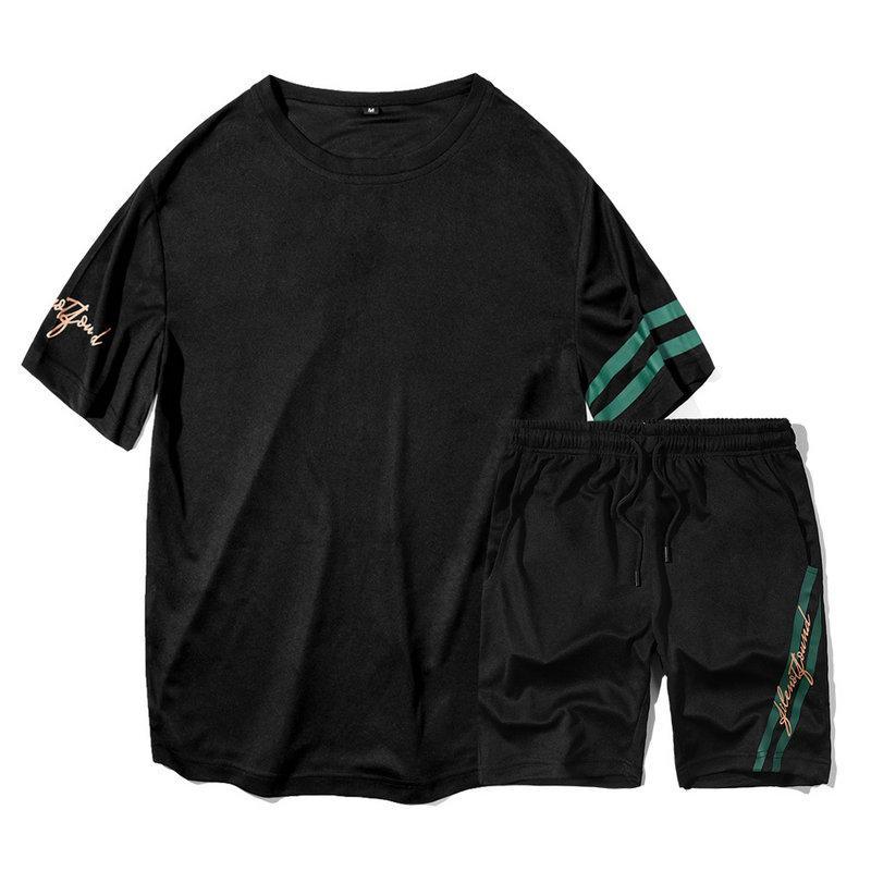 Lässig Sport Shirt Herren Neue Und Sommer Trainingsanzug Stücke Anzug Hose Set Für Mann Zweiteiler T Heiße Kurze Mode Kurzarm mn0yOvNw8