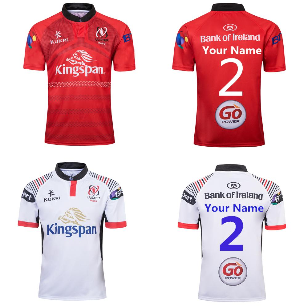 Custom name and number 2019 ulster home and away Rugby Jerseys kukri shirt ULSTER national team League jersey Leisure sports shirts