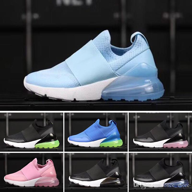 66eb73c16c7b 2018 Chaussures Air Kids 270 Running Shoes Infant 27C Boys Girls Off Black  White Red Blue Sports Sneakers Run Plus TN Maxes Designer Shoes Trail  Running ...
