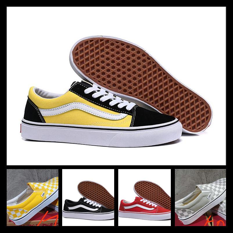 2019 Designer Vans men women shoes Original-Vance Old Skool sk8 Frauen der Männer schwarz weiß rot YACHTCLUB EIBISCH Mode Skate Freizeitschuhe Turnschuhe Segeltuch 36-44