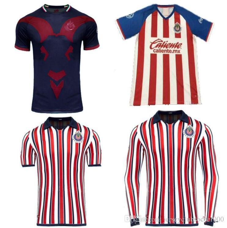 detailed look 344d9 1f57c chivas jersey 2019 2020 new soccer shirt home away third guadalajara  uniforms Top quality More 10pcs Free DHL Shipping