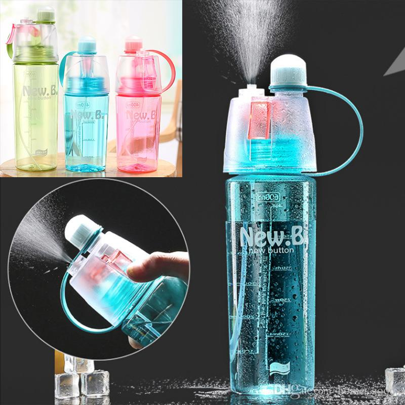 dba6e030ae413a Creative Spray Water Bottle Portable Plastic Atomizing Mug Kettle Shaker  Professional Sports Bottle For Outdoor Hiking Gym Drinking Bottles Empty  Water ...