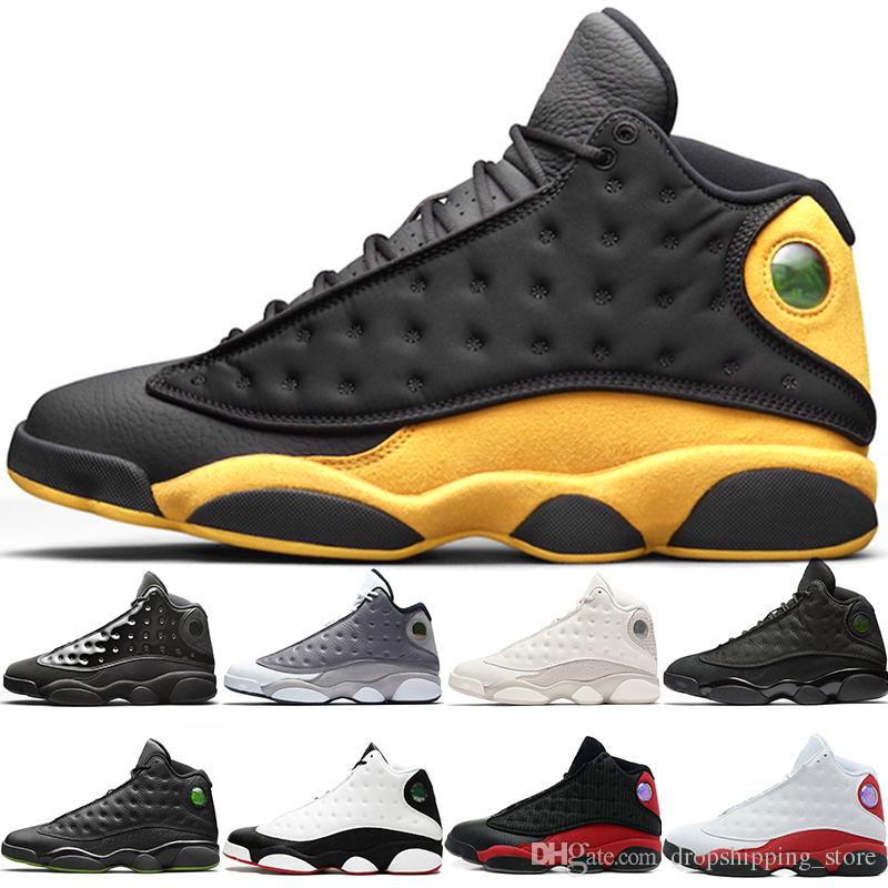 2019 Cap And Gown 13s Basketball Shoes 13 Men Atmosphere Grey He Got Game Black Cat Bred New Trainer Sport Sneakers Size 40-47