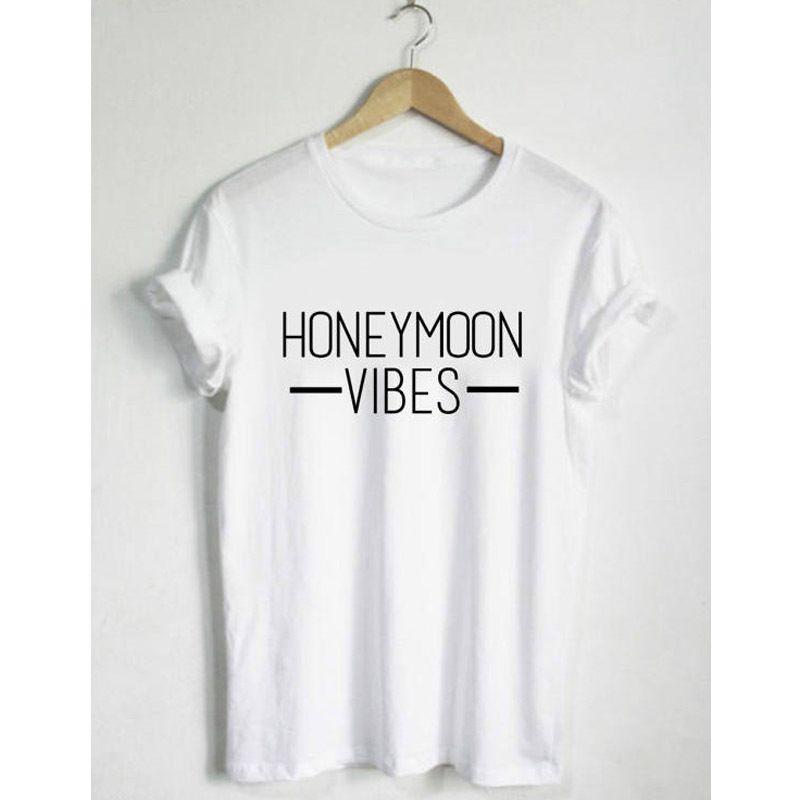15bbb5ebc Compre Lua De Mel Vibes T Shirt Moda Unisex Camiseta Moletom Do Tumblr  Camiseta Casual Tops Mulheres Mens T Shirt Estética Tees De Sloganteestore