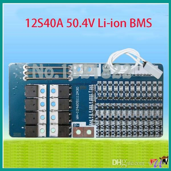 12S 40A 50 4V li-ion BMS PCM battery protection board bms pcm for electric  bike battery cell pack circuit board freeshipping