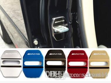 Car Styling Car Door Lock Covers Decoration Case For Mercedes Benz GLK GLA C E GLC Class AMG Auto Car-Styling 4pcs /lot