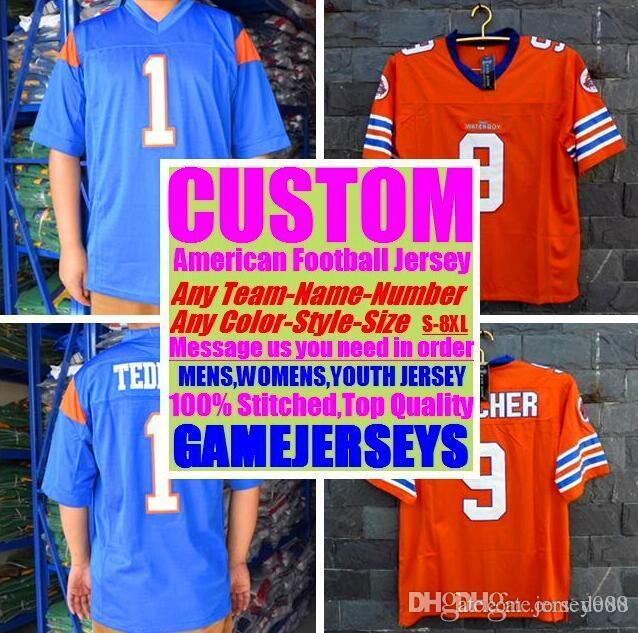 Custom american football jerseys New Orleans team college authentic retro rugby soccer baseball basketball hockey jersey 4xl 5xl 6xl ice usa