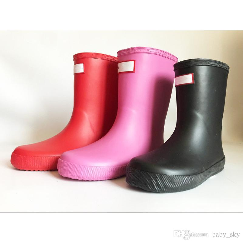 b293943d8ac1 Kids H Letter Rainboots Fashion Mid Calf Rain Boots Waterproof Rubber  Outdoor Water Shoes Boys Girls Summer Rainshoes A41306 Boots Childrens  Clothes Toddler ...