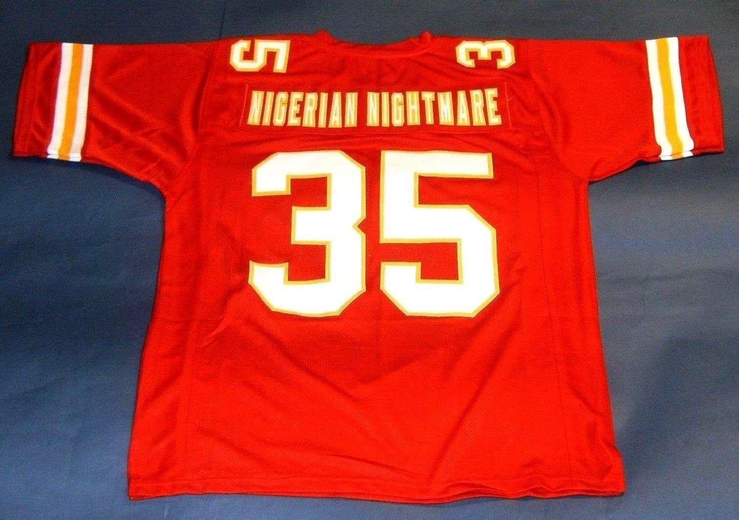 Ness Mitchell Okoye High-end Christian Retro Cheap Nightmare Football Jerseys Size Jersey 35 College S-5xl Nigerian Stitching amp; Mens Custom