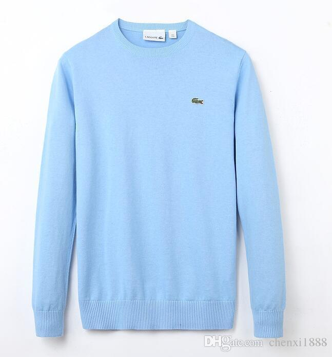 46f87fba234a 2019 Lacoste New High Quality Men S Twisted Needle Sweater Knitted Cotton  Round Neck Sweater Pullover Sweater Male Size M Xxl From Aliexpressaaaaa