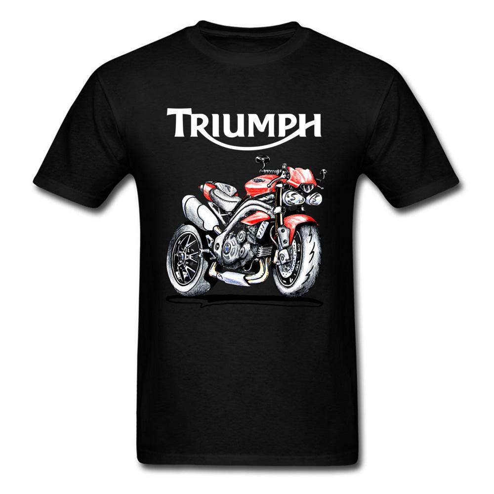 Speed Triple 1050 Triumph Motorcycle T Shirt Men Black T Shirt