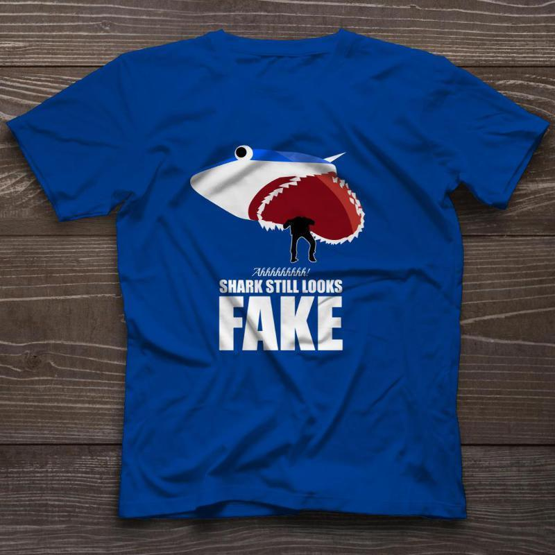 8b461467ce This Shark Still Looks Fake T Shirt Funny Shark Week TV Discover Channel  New Tee Funny Unisex Casual Tshirt Tees Shirts Cheap Design And Buy T Shirts  From ...
