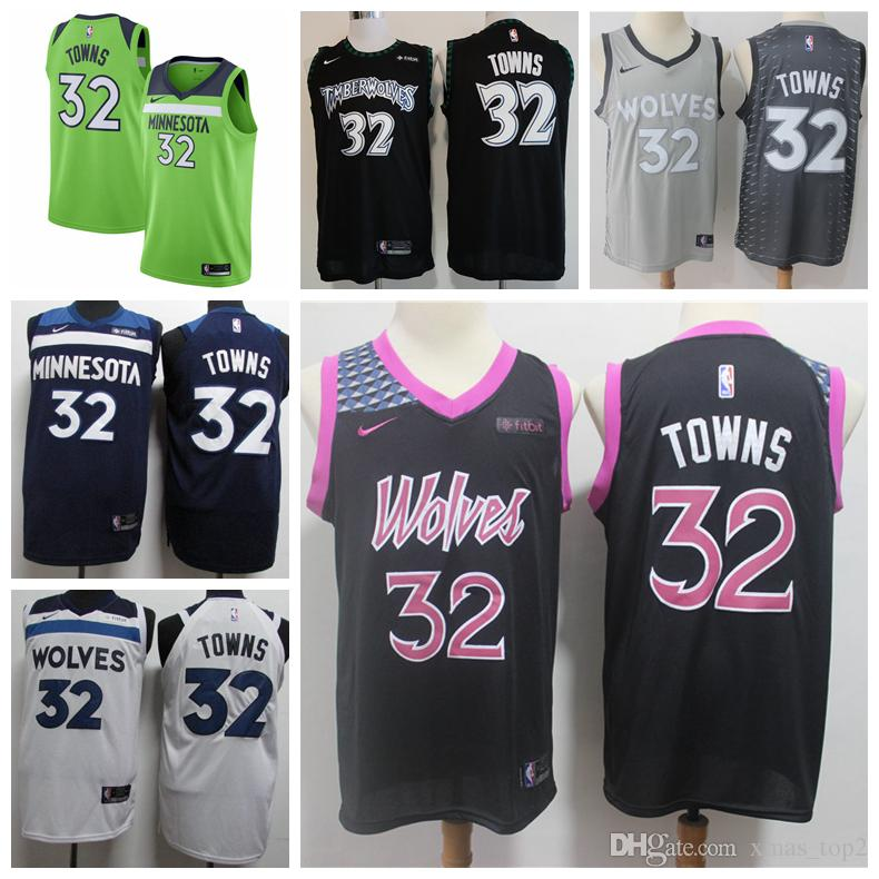 31e0719bd1c ... best price 2019 new city edition 32 karl anthony towns timberwolves  basketball jerseys stitched karl anthony
