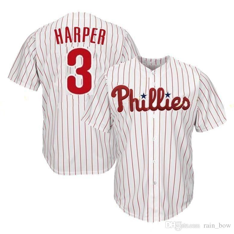 uk availability fe5bb 851b6 2019 Philadelphia Phillies 3 Bryce Harper Jersey Embroidery Mesh Retro  Majestic Alternate Cool Base Harper Baseball Jerseys Cheap Sale From  Rain bow, ...