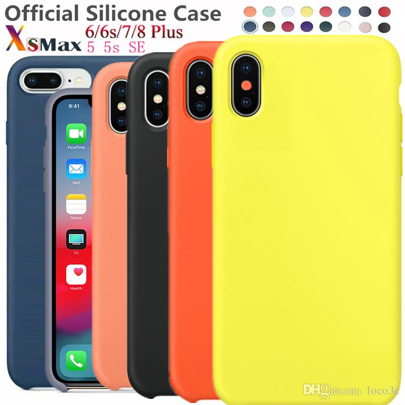 Have LOGO Official Original Liquid Silicone Case For iPhone XR XS MAX X 8 Plus 7 6S Soft Cover Cases with Retail Box