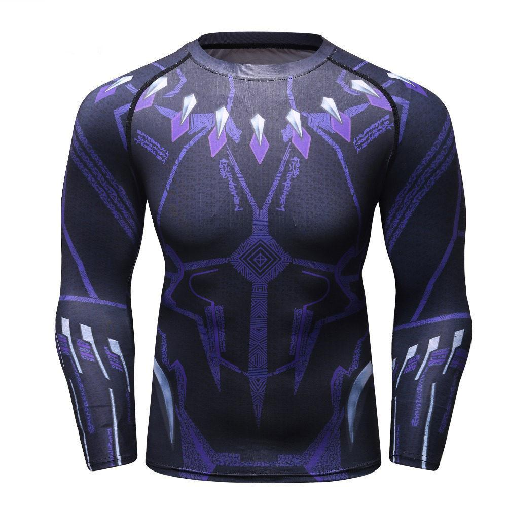 f3d62ff1a51c 2019 New Black Panther Long Sleeve 3d Printed T Shirts Mens Compression  Shirts Crossfit Tops Male Cosplay Gyms Mma Rashguard Shirts And T Shirts  Buy Cool T ...