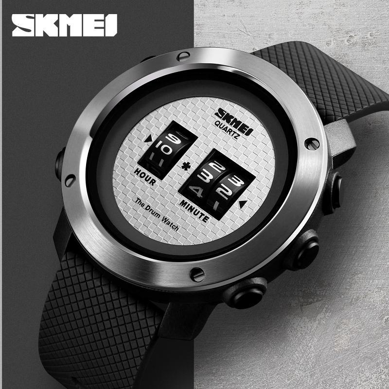 9653206bdee Compre Design Criativo Skmei Homens Relógio De Quartzo Relógios Homem Marca  De Luxo À Prova D Água Dos Homens Relógios De Pulso Esportes Relogio  Masculino ...