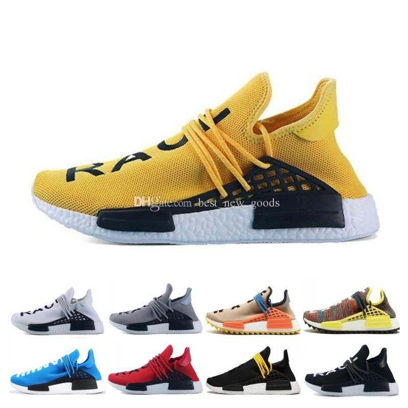 7193066e49c16 2019 Human Race Running Shoes Men Women Pharrell Williams HU Runner ...