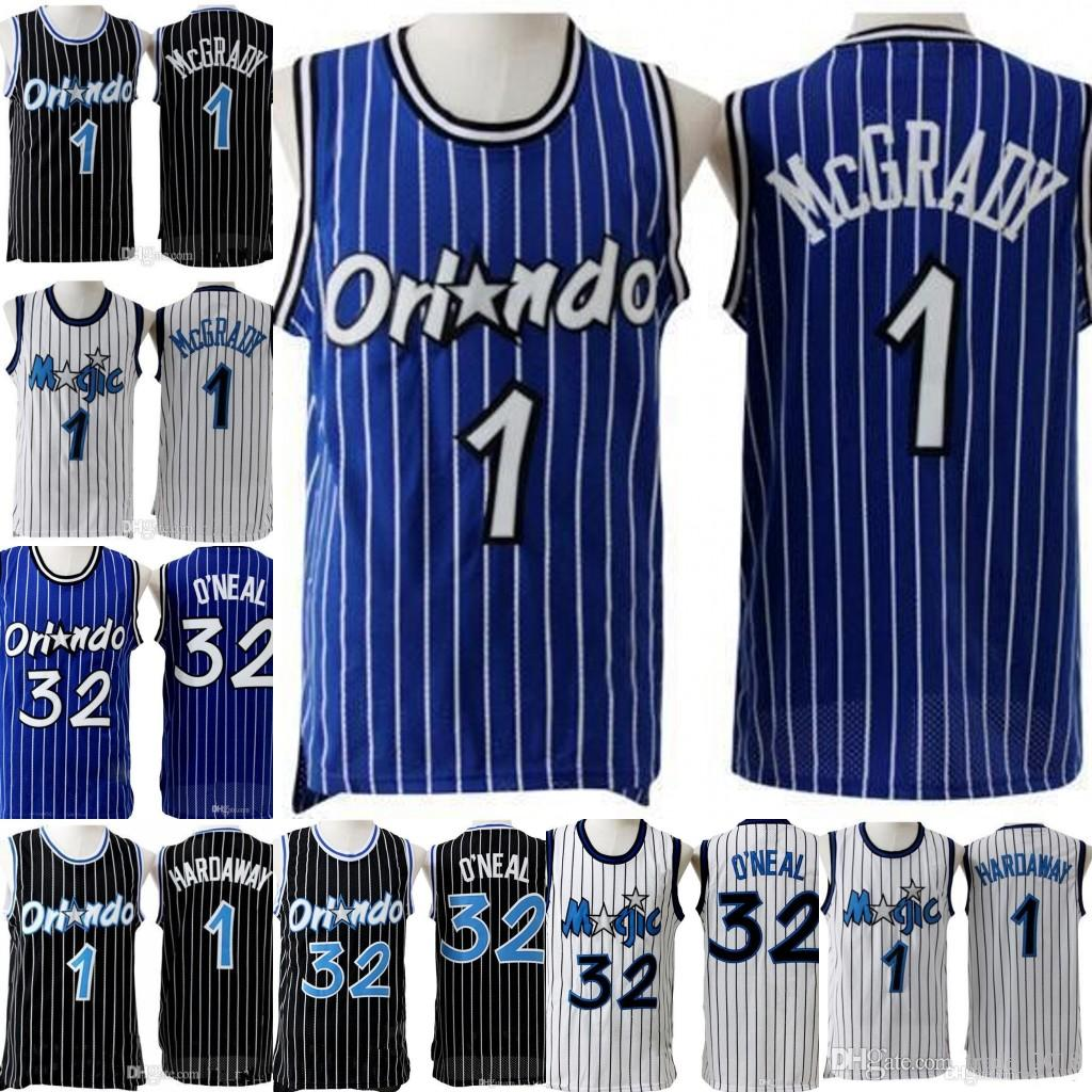 cheap for discount e0efb f1551 Anfernee 1 hardaway Orlando Penny # Hardaway Jersey Retro Mesh Tracy 1  McGrady Shaquille 32 O'neal Basketball Jerseys Embroidery Logos