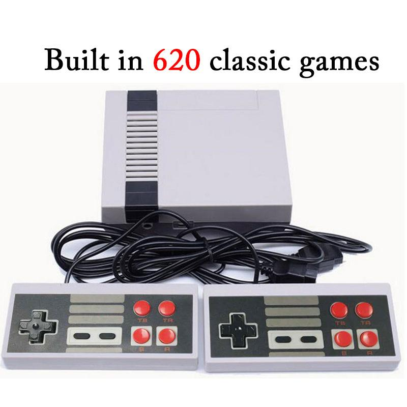 Mini TV Video Handheld Game Console 620 Games 8 Bit Entertainment System For Nes Classic Games Nostalgic Host Big Box Cradle DHL game player