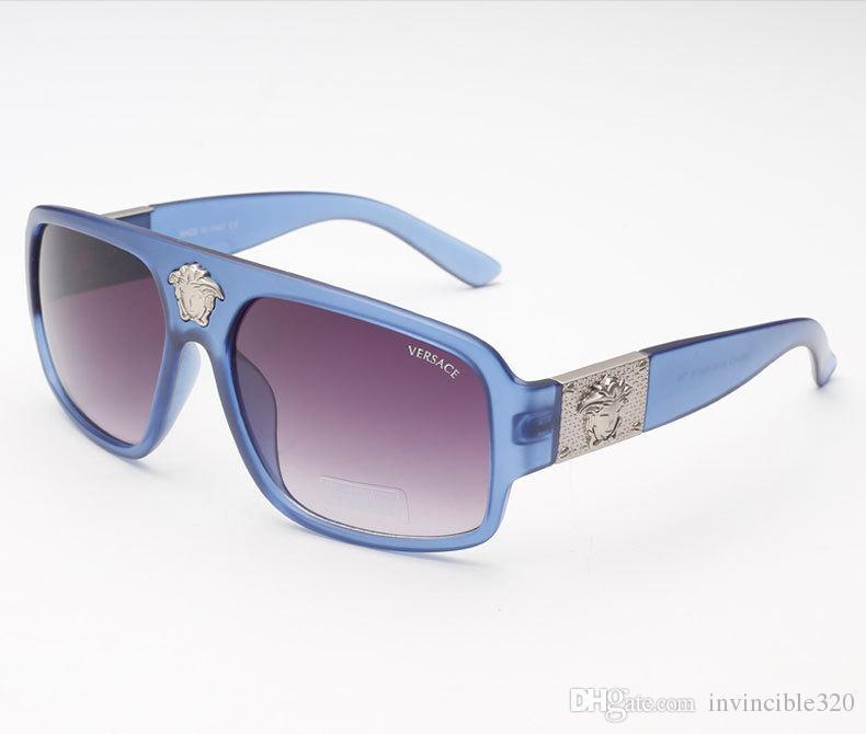 2520124306220 Versace Vintage Round Big Size Oversized Lens Mirror Sunglasses Women  Designer Metal Frame Lady Sun Glasses Lady Cool Retro  807 Eyewear Designer  Sunglasses ...