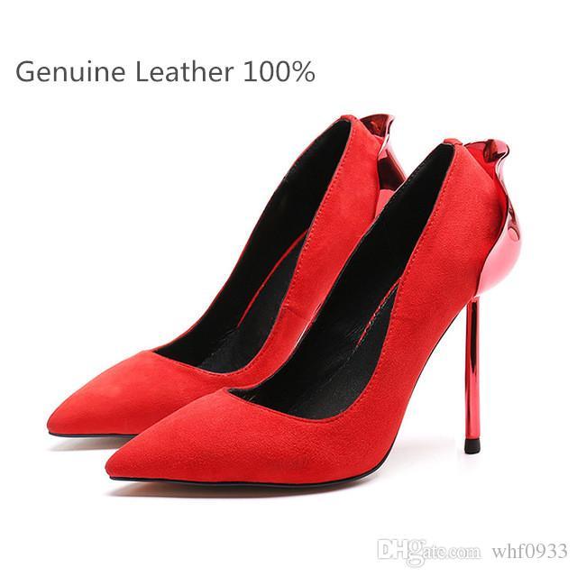 588b73d2 Ventas especiales Euramerican Fashion Style Zapatos de vestir Sexy para  mujer Piel genuina Tacones altos Verano