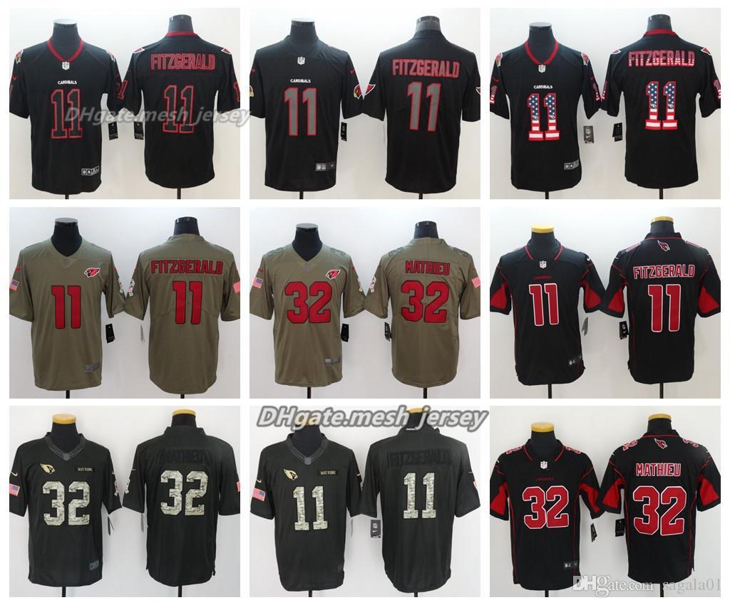 2019 2018 Men Arizona Jersey Cardinals 11 Larry Fitzgerald 32 Tyrann  Mathieu Color Rush Stitching Football Jerseys From Oho04 e8d332478